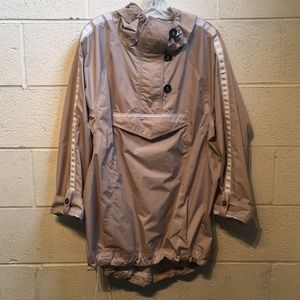 Lululemon tan pullover with buttons & hood sz M/L